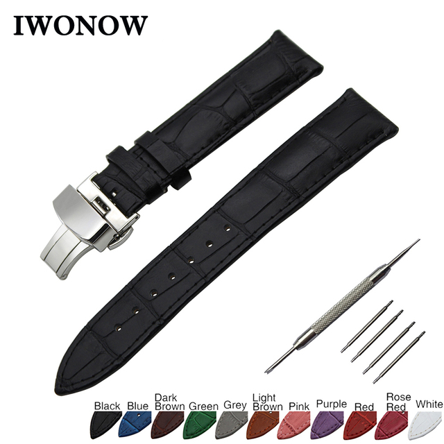 Croco Genuine Leather Watchband for Tissot 1853 Men Women Watch Band Steel Buckl