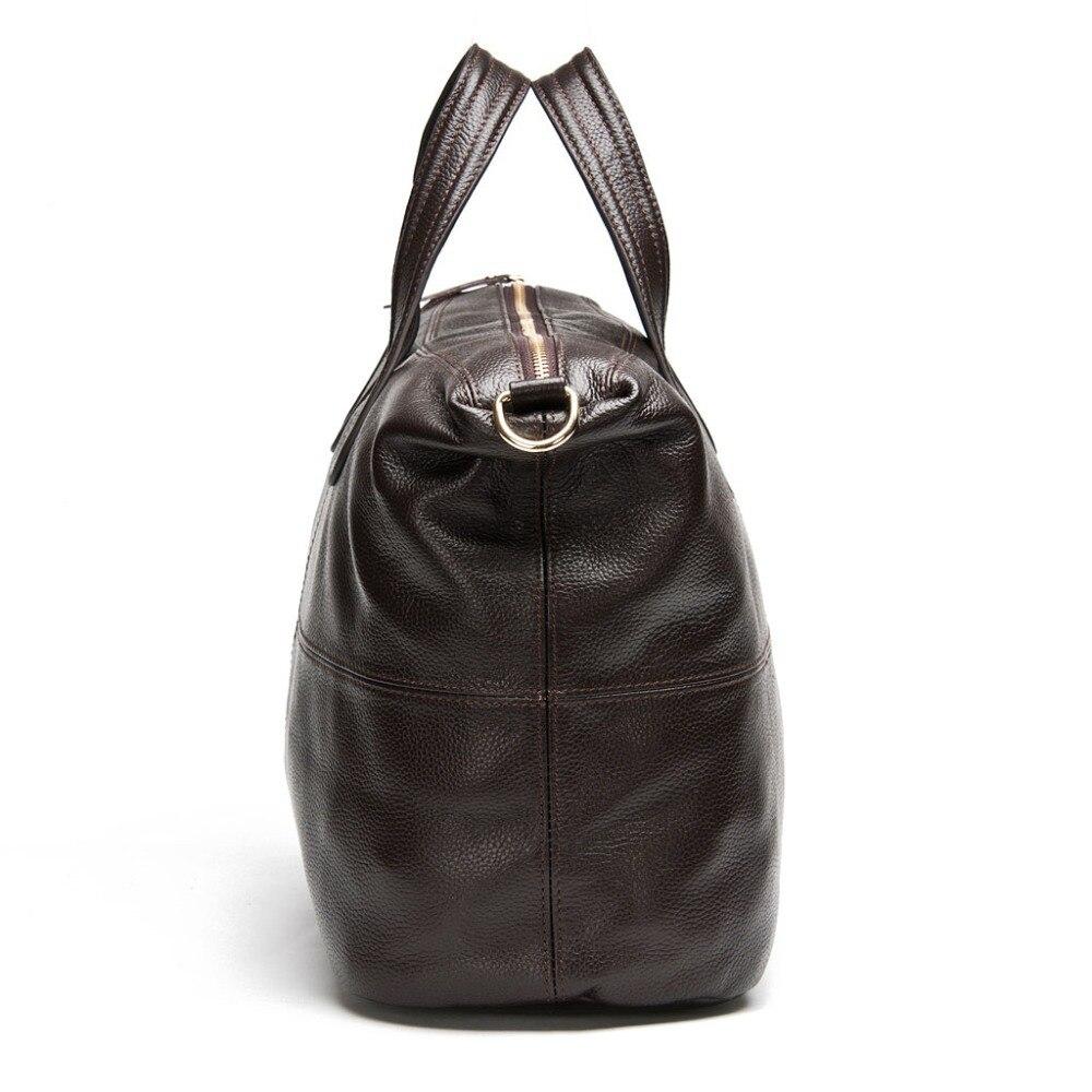 Zency 100% cuero genuino bolso de las mujeres de café bolsos de las - Bolsos - foto 4