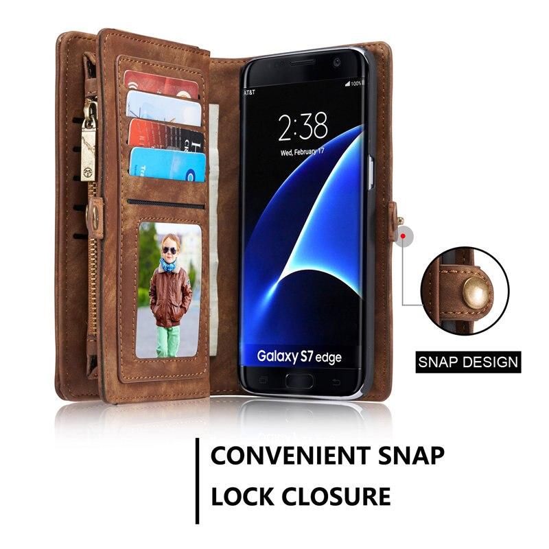 sFor Samsung Galaxy S7 / S7 Edge Case Lyx äkta läder hantverk - Reservdelar och tillbehör för mobiltelefoner - Foto 6