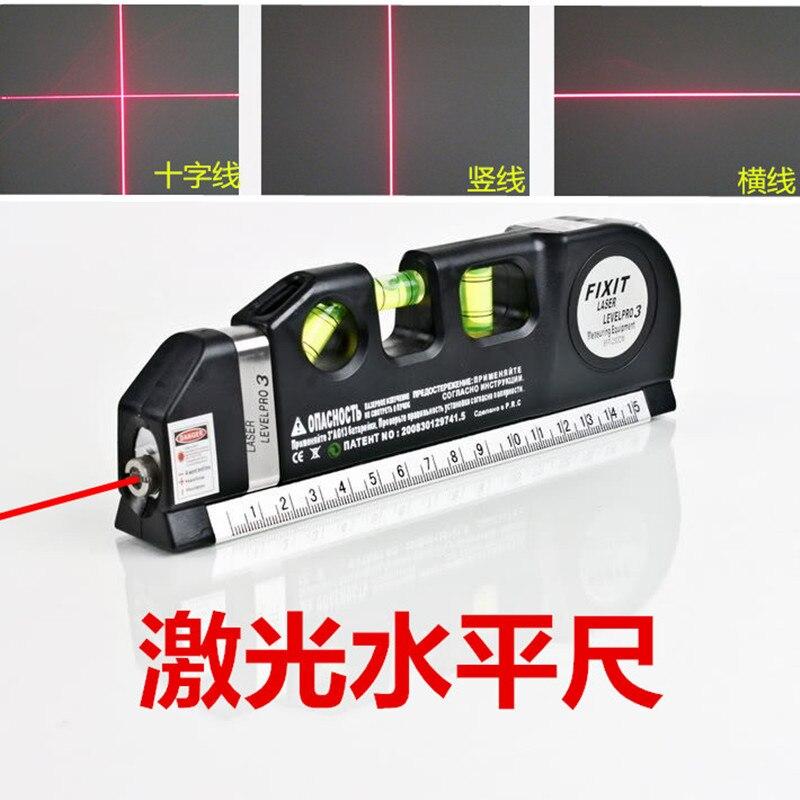 Laser Level Horizon Vertical Measure 8FT Aligner Standard and Metric Ruler Multipurpose Measure Level Laser Black 2017