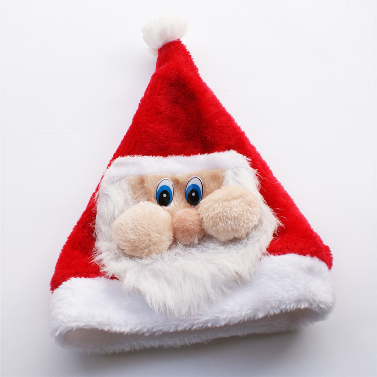 Christmas Dress Up Santa Hat Cute Christmas Hat Thicken Christmas Cap Hat