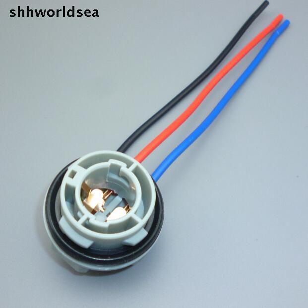 shhworldsea 20PCS 3 PIN 1157 BAY15D Connector PLUG Female Car Light ...