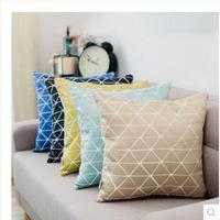 2017 New Geometric Jacquard Fabric Cushion Covers For Home Sofa Bed Decor High Quality Throw Pillowcases