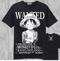 Japanese Anime cosplay costumes One Piece luffy Portgas D Ace straw hat Reward Poster tshirt cotton tee