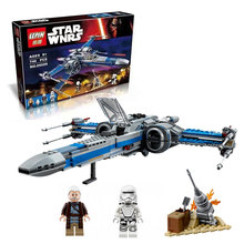748 pcs LEPIN 2016 05029 05004 10466 Star Wars First Order Poe's X-wing Fighter building block compatible  75149 75102