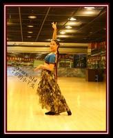 Transparent thin Skirt Belly Dance Tribal skirt with Falbala Flamenco skirt CUF04