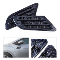 New Car Side Air Vent Fender Cover Hole Intake Duct Flow Grille Decoration Sticker For Universal