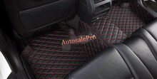 Right / Left Hand Drive PU Waterproff Black Grid Front Rear Floor Mat Carpets Pad Cover For Audi A3 8V 2014 2015 2016