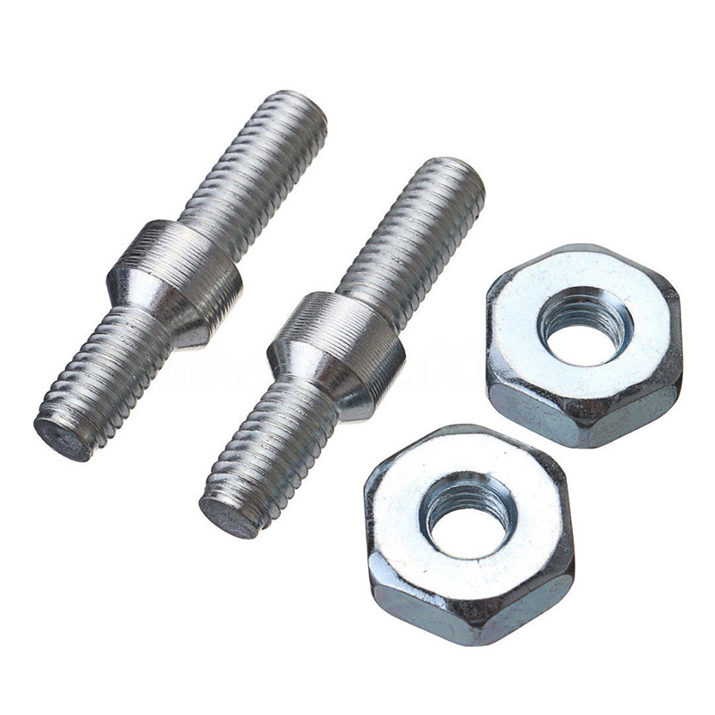 Bar Studs & Bar Nuts Adapter Threaded Rod Bar Stud Round Coupling Connector Nuts Chainsaw 024 026 MS260 028 031 032