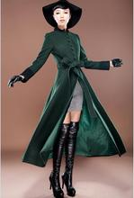 High quality new autumn and winter Ultra long wool coat slim women cashmere woolen overcoat