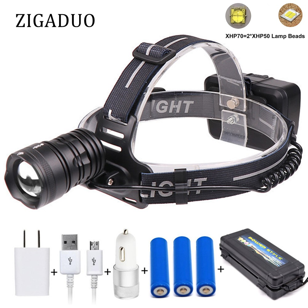 Headlamps Lights & Lighting Devoted Xhp50 Xhp70 Powerful Headlight 45000lum High Power Led Usb Headlamp Head Lamp Flashlight Torch Zoom Head Light For Hunting Available In Various Designs And Specifications For Your Selection