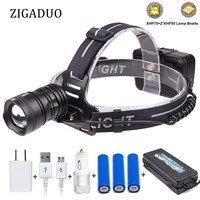 XHP50 XHP70 Powerful Headlight 45000lum High Power Led USB Headlamp Head Lamp Flashlight Torch Zoom Head light for Hunting