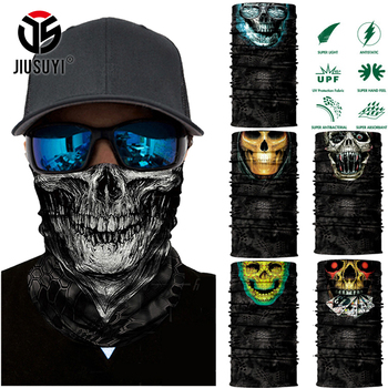 3D Seamless Ghost Skull Skeleton Head Bandana
