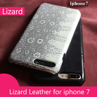 2016 New For Iphone7 Luxury Real Natural Lizard Genuine Leather Back Case Phone Cover For Iphone
