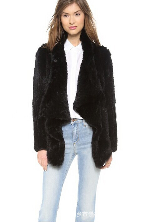 arlenesain beatiful knit rabbit rex fur women jacket