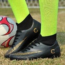 d7ed3ab65 الأسد الصرخة الرجال لكرة القدم أحذية عالية الكاحل حار بيع المرابط أحذية كرة  القدم طويلة المسامير في الهواء الطلق Traing أحذية لل.