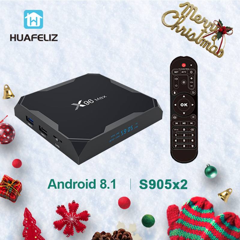 X96Max Android 8,1 ТВ коробка X96 S905X2 Smart tv box Amlogic S905X2 4 ядра 4GB64GB г 2,4 г и 5 ГГц Wifi BT 1000 м К 4 к X96 Max приставка