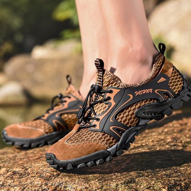 Của nam giới thời trang lưới thoải mái vulcanize giày lớn kích thước 6-12.5 chắp vá không-trượt 2019 thương hiệu giày đen