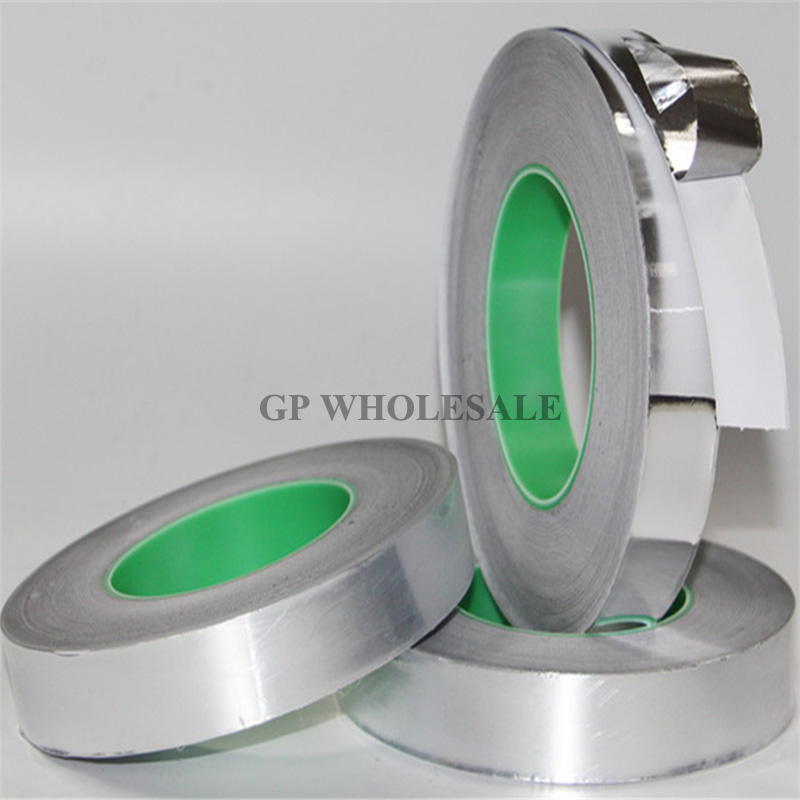 0.06mm Thick, 50mm*50M Double Sided Conductive Conductive, Single Sticky, Aluminum Foil Electromagnetic shielding Tape 95mm 50m 0 085mm thick double sided conductive conductive single sticky aluminum foil electromagnetic shielding tape