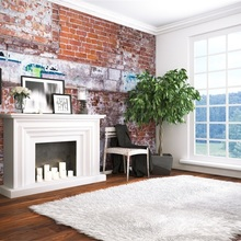 Capisco Brick Wall Light Bulb Table Flower Dinner Night Indoor Scenic Photo Backgrounds Photography Backdrops For Photo Studio Crazy Price Photo Studio