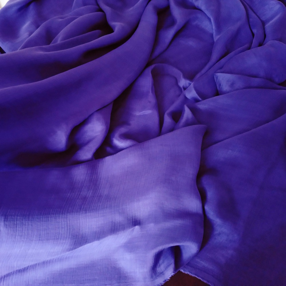 Pure Silk Chiffon Fabric Double Layer Combined Bluish Purple Color 140 Cm Wide Diy Sewing Fashion Arel
