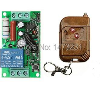 Relé domótica z-wave 315/433 MHZ con AC220V 10A 1CH RF Sistema del Interruptor d