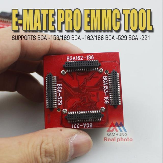 Original E-MATE pro EMMC tool box MOORC U-Socket adapter SUPPORTS BGA -153/169 162/186 529  221 for jtagbox without testpoint