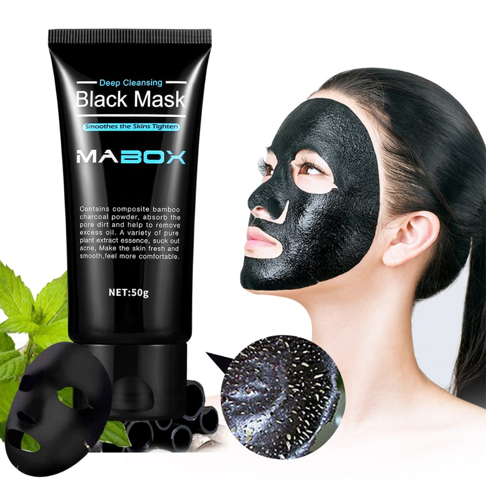 Skin Care Suction Black Mask Bamboo Charcoal Blackhead Remover Nasal Paste Mud Shrink Pores Deep Clean Acne Printing Acne Skin Care Beauty & Health