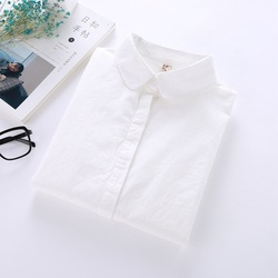 White Shirt Women Long Sleeve 2018 New Brand Blouses Lady Young Casual Cotton Shirts Solid Color Simple Style Women Tops Blusas 6