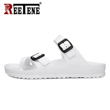 REETENE 2019 Men Sandals Flip Flop Slippers Soft Men Shoes Unisex Summer Slippers Outdoor Men Flat Shoes High Quality For Male(China)