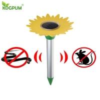 태양 광 해충 Repeller 전자 태양 꽃 초음파 Repeller 뱀 정원 잔디 야외 곤충 구충제 해충 방제