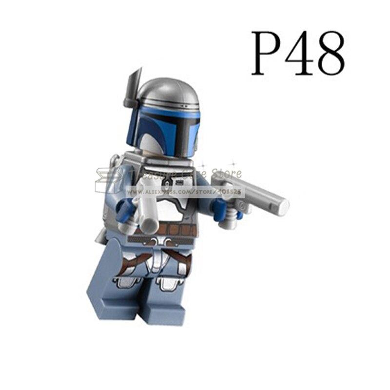 P48 SW468 Jango Fett Individual figure Star Wars Building Toys Blocks