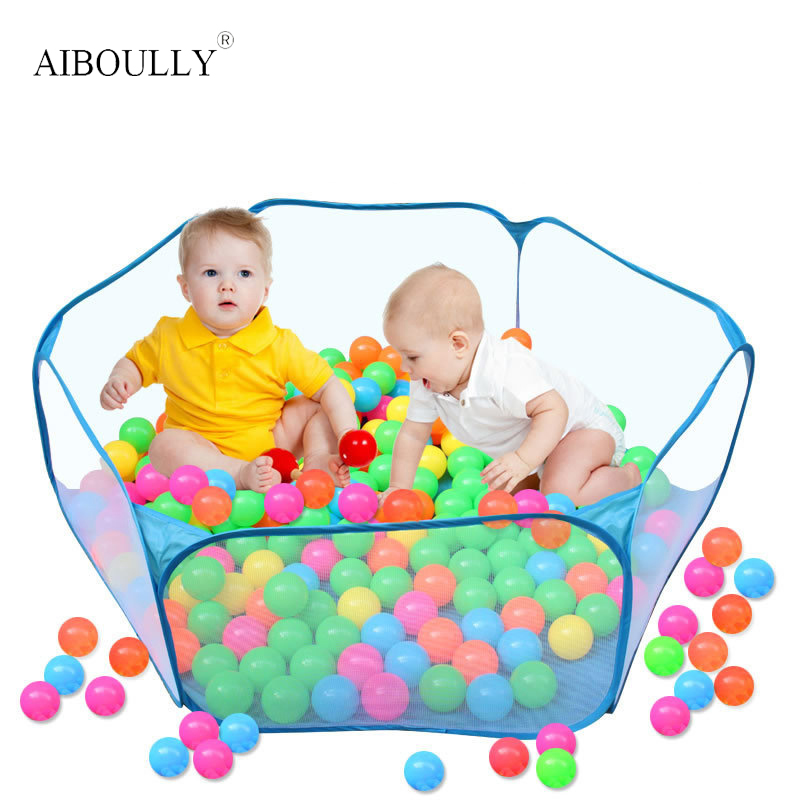 Foldable Funny Children Kids Play Tent Ocean Ball Pool Kids Playhouse Set Toy Baby Gifts Cartoon Fence
