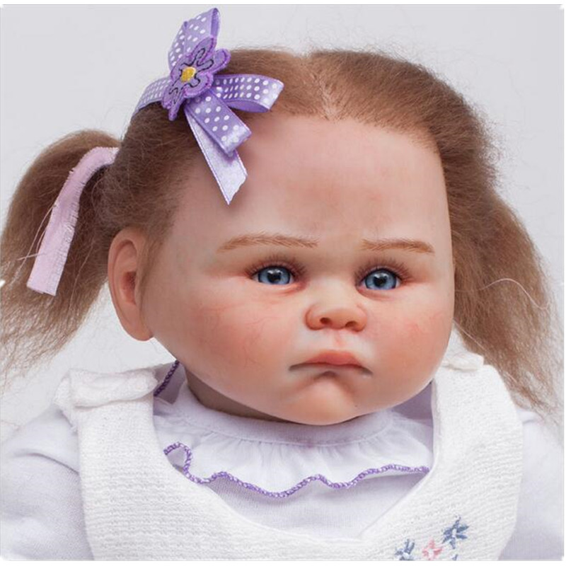 Newest 20inch Silicone Reborn Baby GIRL Realistic Doll Lifelike Baby Cute Doll Toys for Children Kids Gifts Juguetes Brinquedos lifelike american 18 inches girl doll prices toy for children vinyl princess doll toys girl newest design