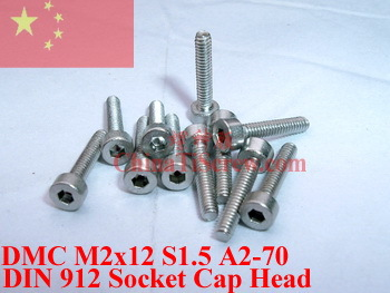Stainless Steel screws M2x10 DIN 912 A2-70 Polished ROHS 100 pcs titanium screws m4x20 din 912 hex 3 0 driver polished
