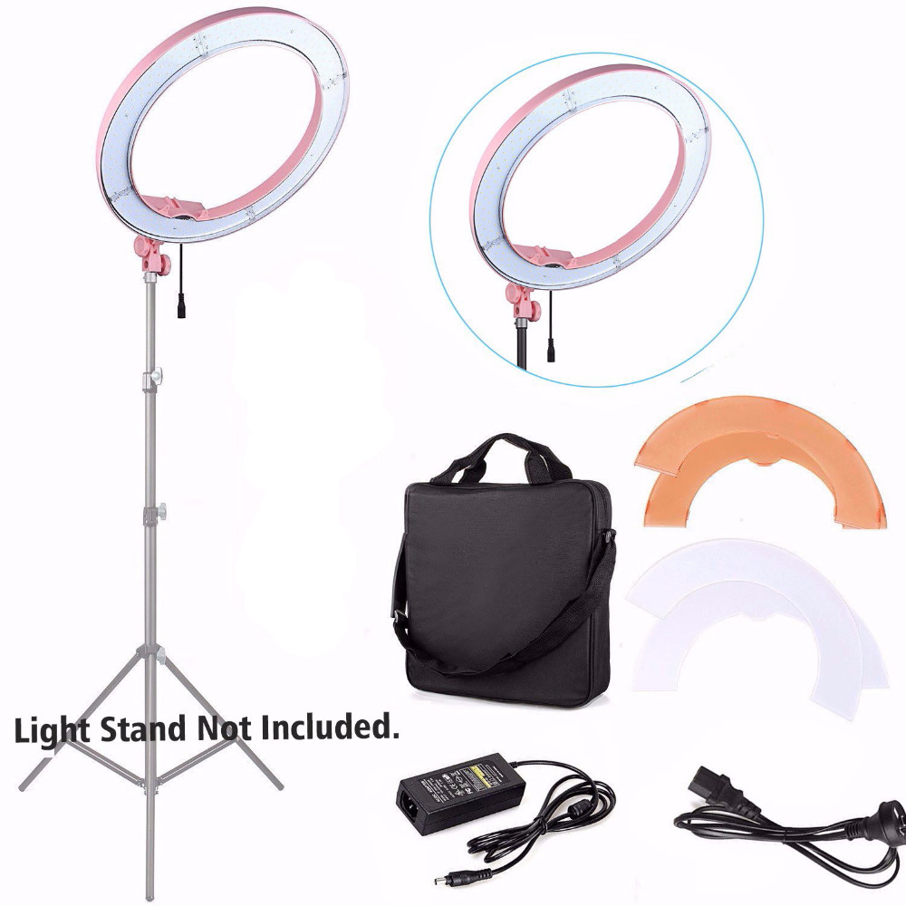 ES180 180 LED 12 Stepless Adjustable Ring Light Camera Photo/Video 180pcs LED 5500K Dimmable Flashes Right Light For Phone