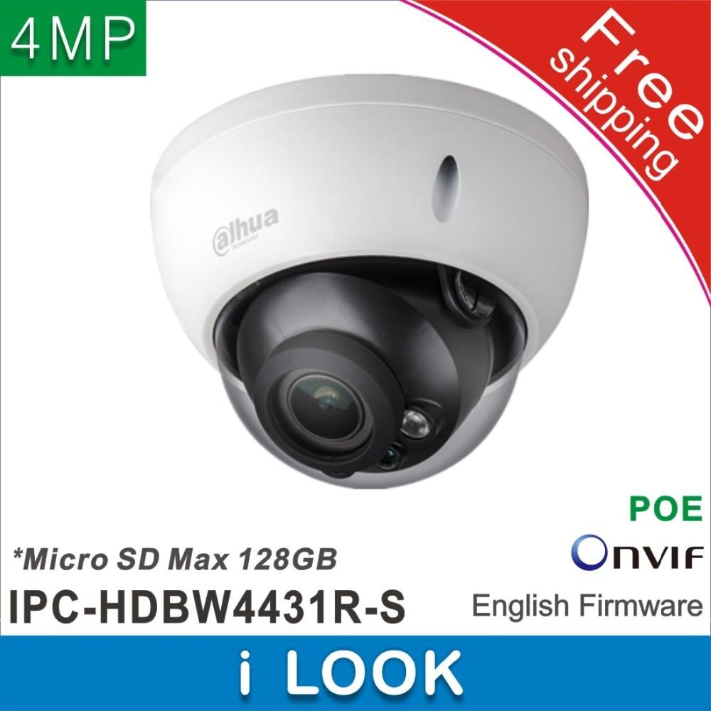 imágenes para Envío libre $ number mp dahua ipc-hdbw4431r-s reemplazar ipc-hdbw4421r ip cctv cámara domo cámara de red poe h265 sd micro impermeable