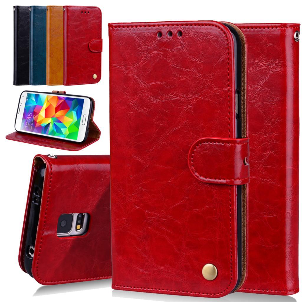 Caixa do telefone Para Samsung Galaxy i9500 S5 Projeto Estande Carteira de Couro Casos Tampa Do Telefone Móvel Para Samsung S5