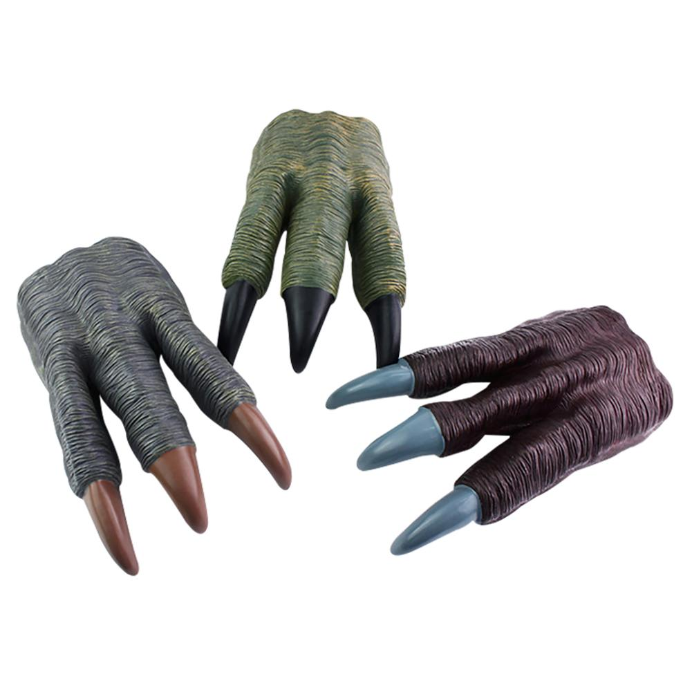 1PC/Pack Dinosaur Claw Gloves Halloween Cosplay Props Horror Style Costumes Accessories Artificial Soft Dinosaur Paws Kids Gift