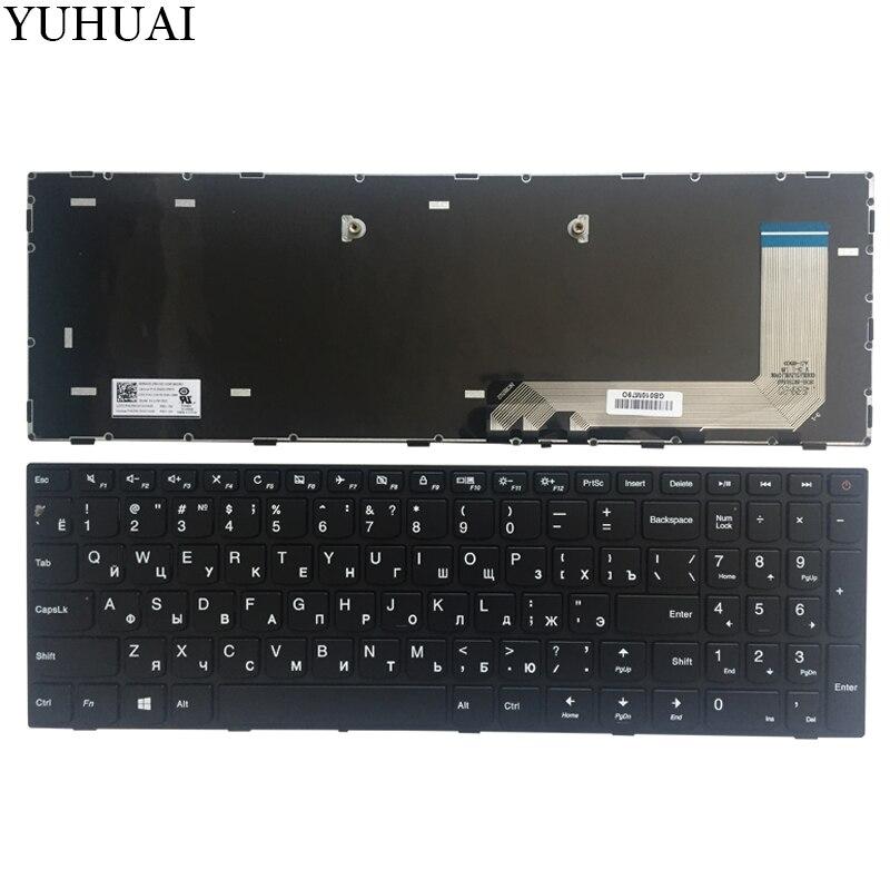 Novo teclado RU Para Lenovo IdeaPad 110-15ISK 110-17ACL 110-17IKB 110-17ISK Russo teclado Preto