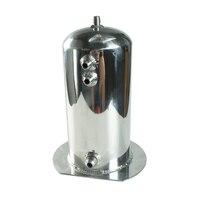 Universal 2.5L Litre Fuel Surge Catch Can Aluminium Polish Fuel Tank / Oil Catch Tank Racing Oil Catch Can