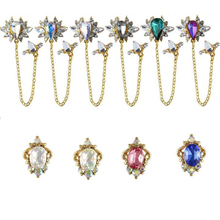 5pcs/bag Nail Jewelry 10 Designs Nails Decoration Blue /Rose/AB Rhinestones Glitter For Luminous Art#J