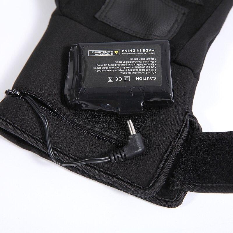 Спаситель S 04 зимние электрические нагревательные перчатки для катания на лыжах, рыбалки, верховой езды, охоты, низкотемпературные теплые руки для мужчин и женщин - 5