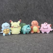 EMS 100Pcs Lot 7 10cm Ditto Metamon Pikachu Charmander Squirtle Clefairy Bulbasaur Plush Toys Stuffed Soft