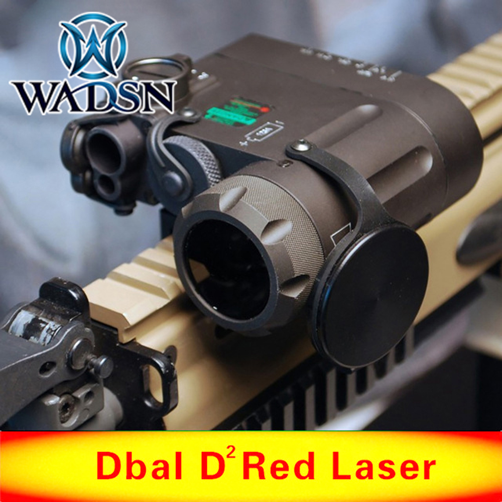 WADSN Tactical LED Flashlight Airsoft IR And Red Laser DBAL MKII Multifunction DBAL D2 Battery Case