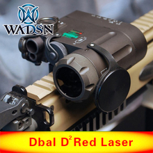 цена на WADSN Tactical LED Flashlight Airsoft IR Lazer And Red Laser DBAL-MKII Multifunction DBAL-D2 Battery Case  Softair Weapon Lights