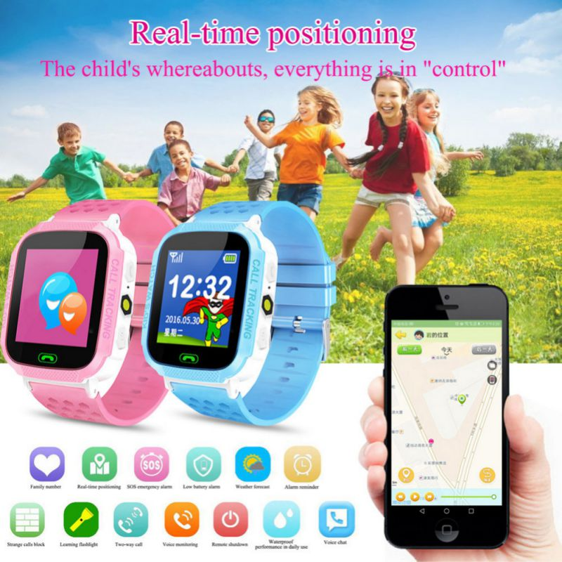 C6 Children's Fashion Smart Phone Watch Positioning Two-way Call One-button SOS Remote Maintenance Children's Watch