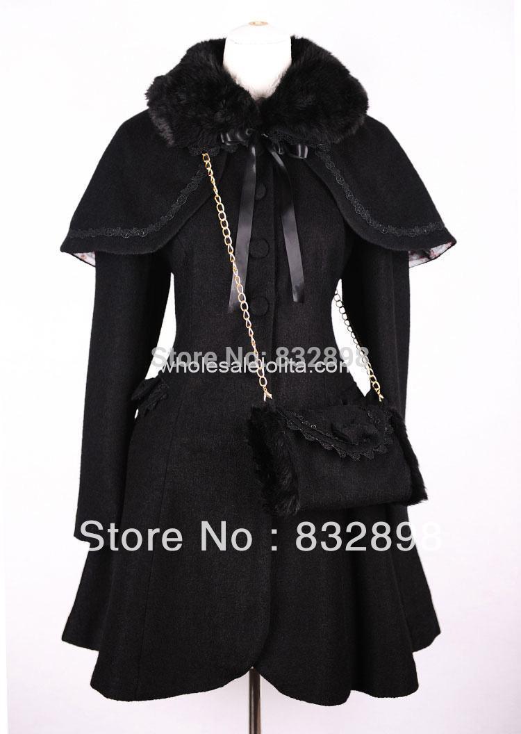 Nouveau Hiver Laine D'hiver Style Long Manteau Noir Filles Doux Manteaux Marque fAAO4wq