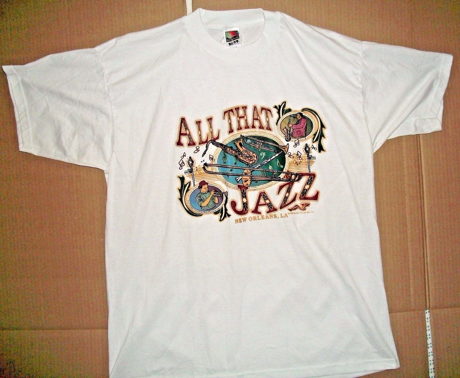 All That Jazz T Shirt New Orleans NOLA Big Band Louisiana XL