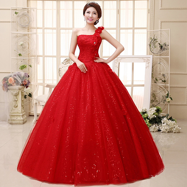 Robe de princesse rouge femme